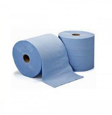 Flat Roll Towel Blue – 1 ply