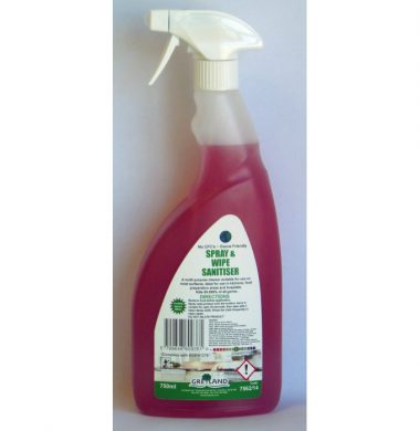 Greylands Spray & Wipe Sanitiser – 750ml x 6 bottles