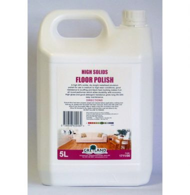 Greylands High Solid Floor Polish – 5 litres