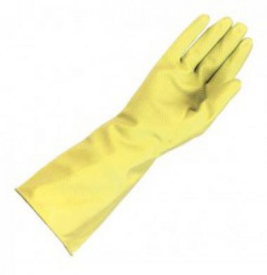 Yellow Household Gloves – Medium x 12 pairs