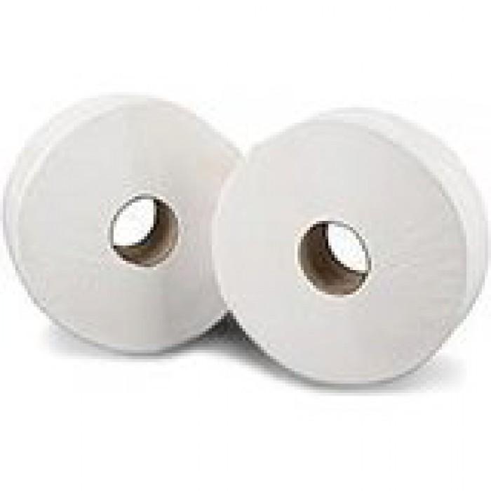 Mini Jumbo White Toilet Tissue  – 2 ply