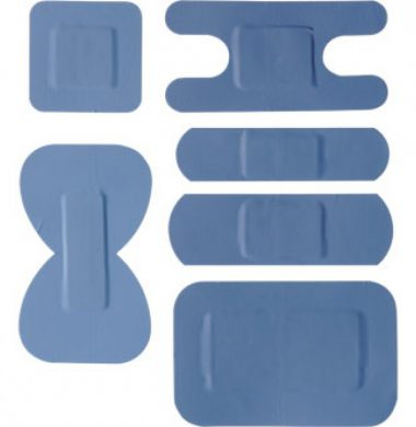 100 Blue Plasters Mixed Sizes