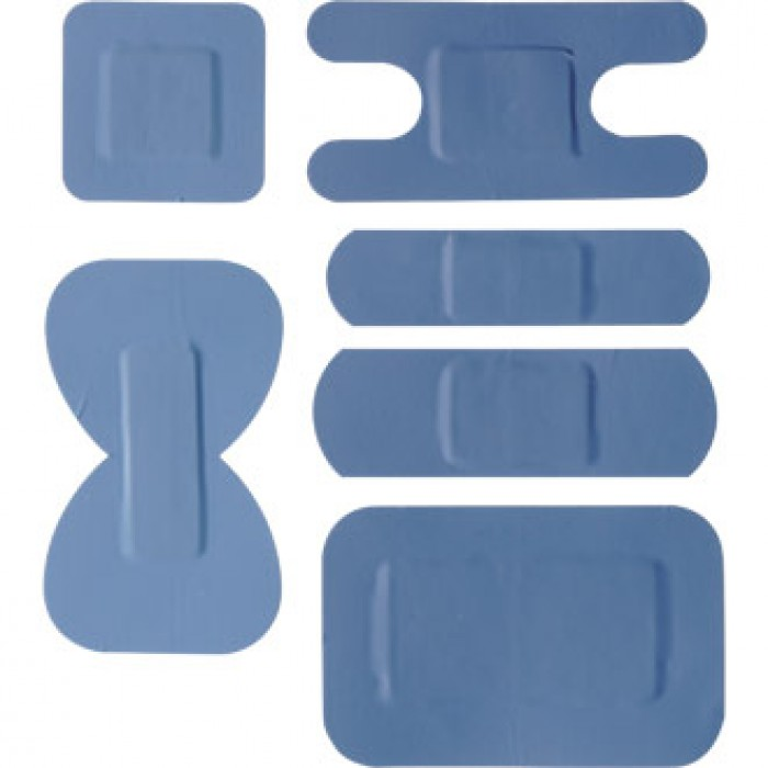 Blue Plasters Mixed Sizes