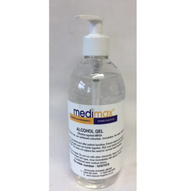 Medimax Alcohol Gel Pump Action – 500ml x 1 bottle