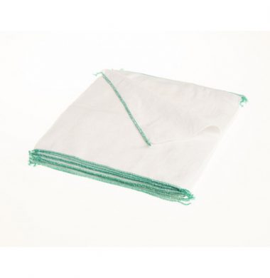 White Stockinette Dishcloth with Green Edge x 10 cloths