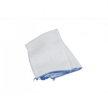 White Stockinette Dishcloth with Blue Edge x 10 cloths