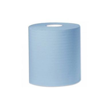 Embossed Centre feed blue – 2ply x 6 rolls (approx 19cm x 90m per roll)