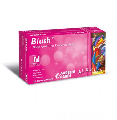 Pink Nitrile Powder Free Gloves – Aurelia Blush (Box of 200)