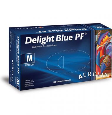 Blue Powder Free Vinyl Gloves – Aurelia Delight (Case of 10 x 100)