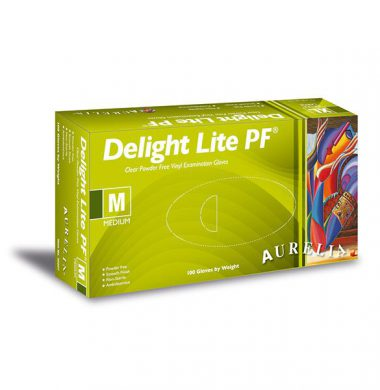 Clear Powder Free Vinyl Gloves – Aurelia Delight Lite (Box of 100)