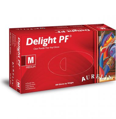 Clear Powder Free Vinyl Gloves – Aurelia Delight (Box of 100)