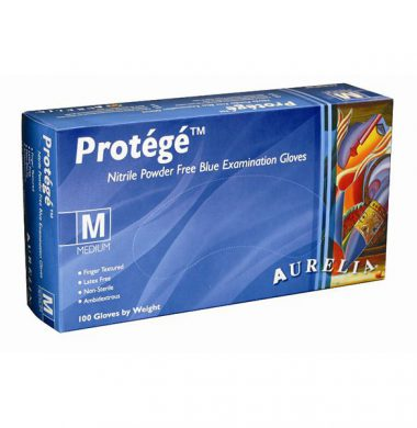 Sky Blue Nitrile Powder Free Gloves – Aurelia Protégé (Box of 100)