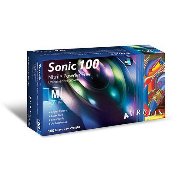 Aurelia Sonic 100 Cobalt Blue Nitrile Powder Free Gloves