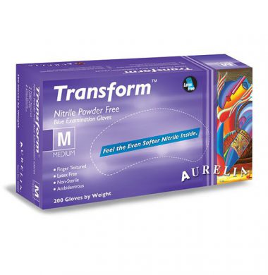 Ice Blue Nitrile Powder Free Gloves – Aurelia Transform (Box of 200)