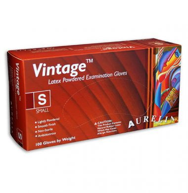 Smooth Surface, Powdered Latex Gloves – Aurelia Vintage (Box of 100)