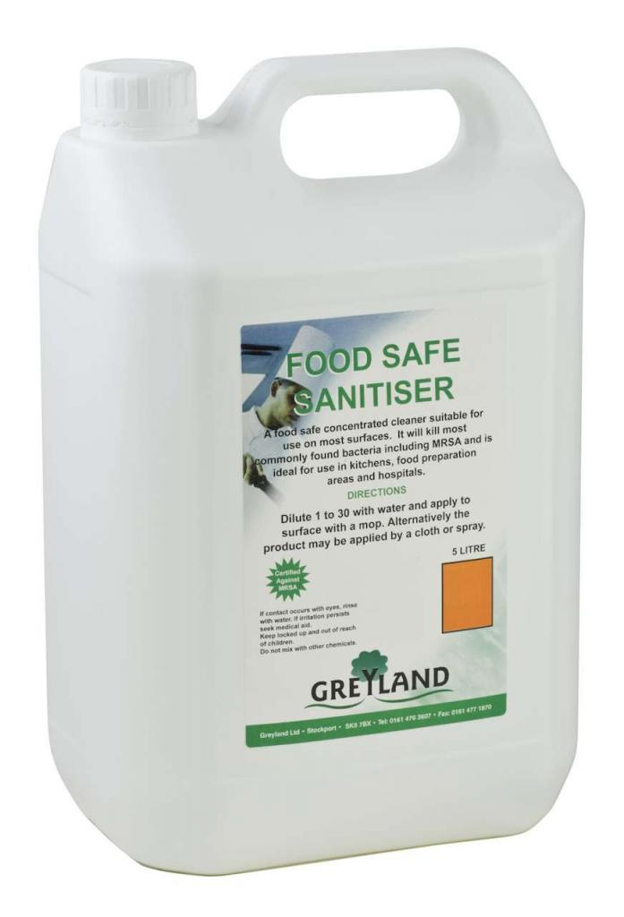Greylands Concentrated Sanitiser Food Safe – 5 litres