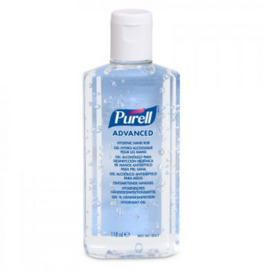 Gojo Purell Hand Gel Flip Top Bottle  – 118ml x 24 bottles