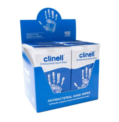 Clinell Antimicrobial Hand Wipes (100)
