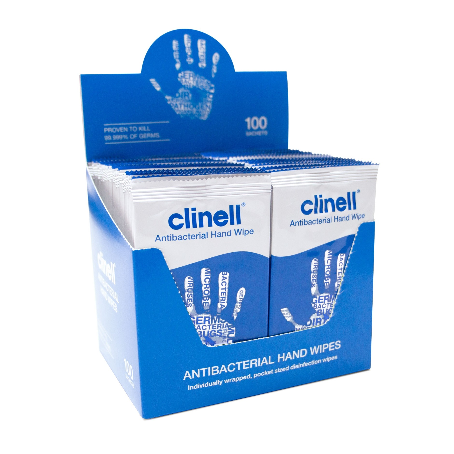 clinell_antibacterial_hand_wipes_-_100_sachets